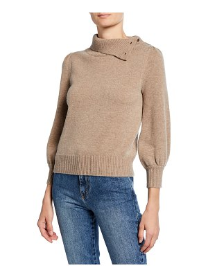 Co. Cashmere Convertible Poet-Sleeve Sweater