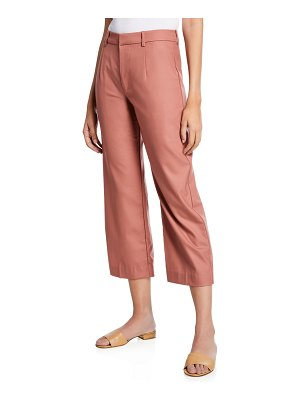 Co. Flat Front Cropped Straight-Leg Pants