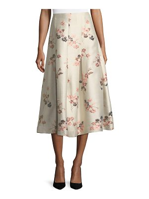 CO. Floral-Jacquard Long Taffeta Skirt