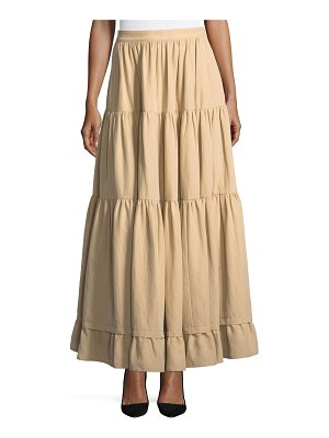 Co. Long Tiered Cotton-Poplin Skirt