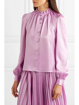 Co. satin-twill blouse