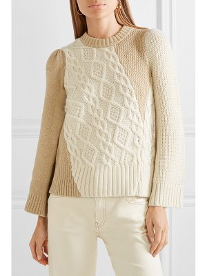 Co. two-tone cable-knit alpaca-blend sweater