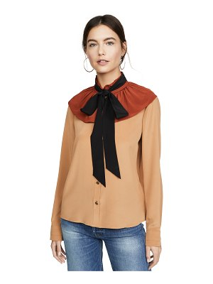 COACH 1941 gathered collar blouse