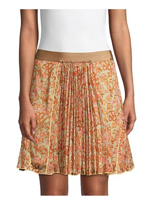 COACH 1941 retro floral print pleated skirt
