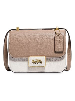 COACH Alie 18 Colorblock Leather Shoulder Bag