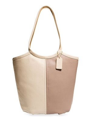 COACH Bea Colorblock Soft Leather Tote Bag