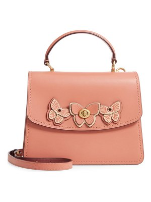 COACH butterfly parker leather top handle bag