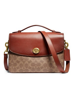 COACH cassie signature canvas & leather crossbody bag