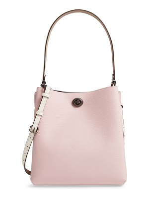 COACH charlie colorblock leather bucket bag