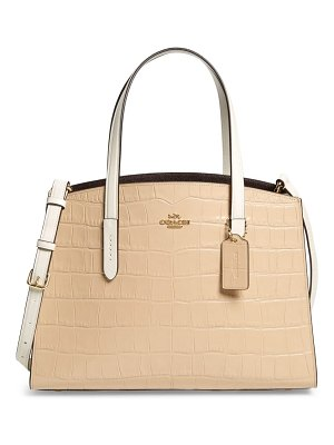 COACH charlie colorblock leather tote