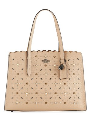COACH Charlie Prairie Rivets Carryall Tote Bag