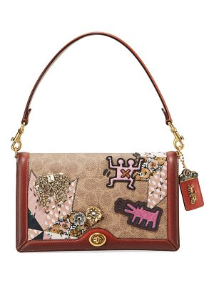 COACH Coated Canvas Embellished Patchwork Crossbody Bag