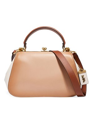 COACH Colorblock Frame Top Handle Bag