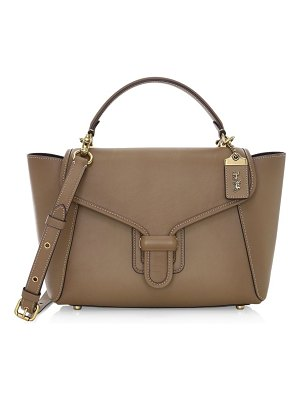 COACH courier leather satchel