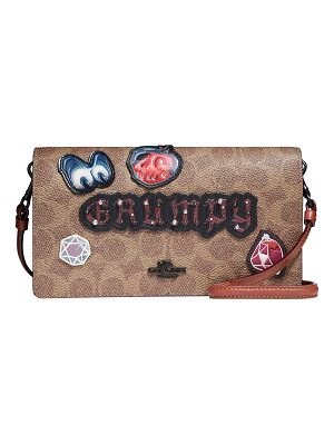 COACH DISNEY X COACH Grumpy Fold-Over Crossbody Clutch Bag