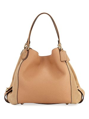 COACH Edie 42 Mixed Leather Handbag