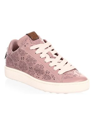 COACH floral cut-out leather sneakers