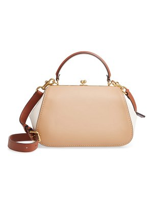 COACH frame colorblock leather shoulder bag