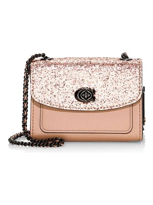 COACH glitter flap chain shoulder bag