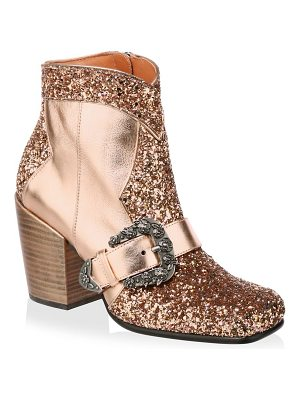COACH glitter western ankle boots