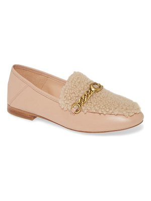 COACH helena convertible loafer with genuine shearling trim