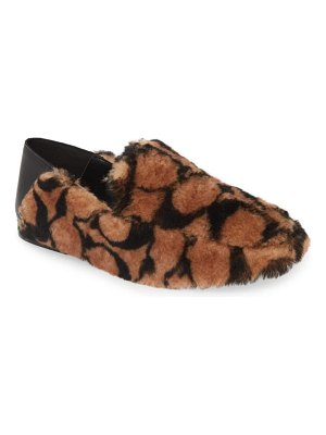 COACH holly genuine shearling convertible loafer
