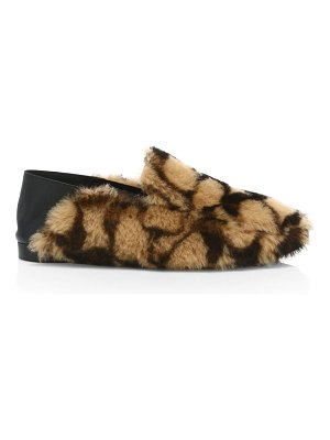 COACH holly signature shearling loafers