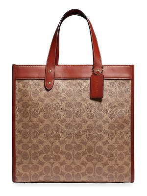 COACH Horse & Carriage Logo Field Tote Bag
