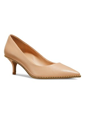 COACH jackie ball chain pointed toe pump