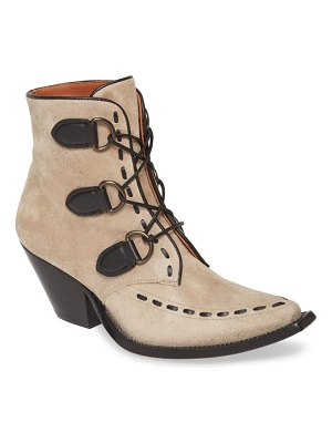 COACH lace-up western bootie