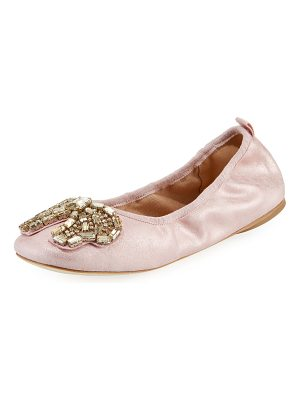 COACH Margot Crystal-Bow Ballet Flats
