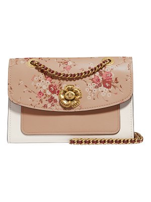 COACH Parker Floral-Print Leather Shoulder Bag