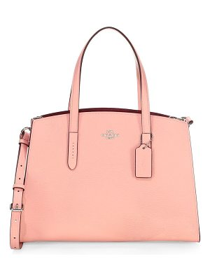 COACH charlie pebbled leather tote