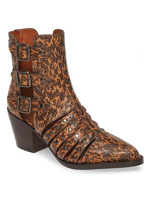 COACH phoebe studded open bootie