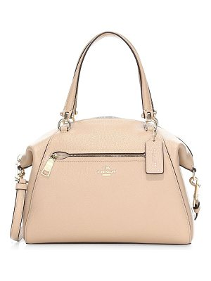 COACH prairie pebble leather satchel