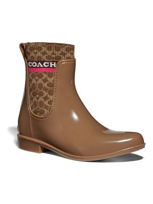 COACH rivington waterproof chelsea rain boot