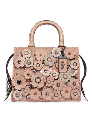 COACH Rogue 25 Crystal Tea Rose Tote Bag