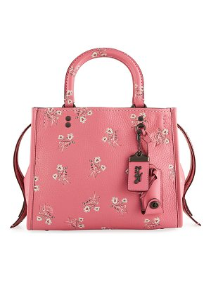 COACH Rogue 25 Floral Bow Shoulder Bag