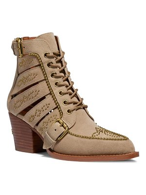 COACH studded bootie