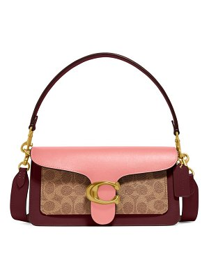 COACH tabby 26 colorblock coated canvas shoulder bag
