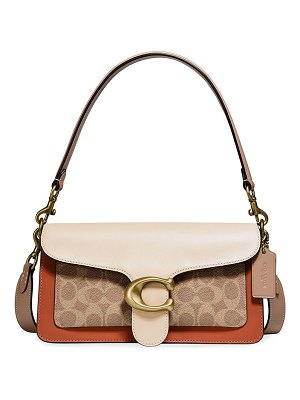 COACH Tabby Coated Canvas & Leather Shoulder Bag