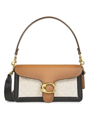COACH tabby colorblock leather shoulder bag