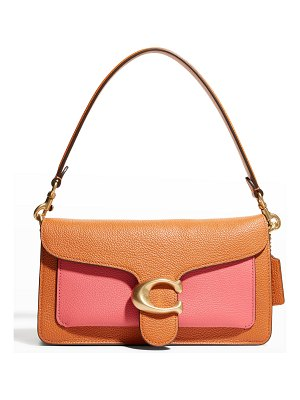 COACH Tabby Colorblock Mixed Leather Shoulder Bag