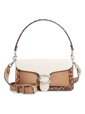 COACH tabby leather & genuine snakeskin shoulder bag
