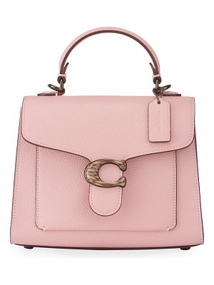 COACH Tabby Polished Pebbled Leather Top-Handle Bag