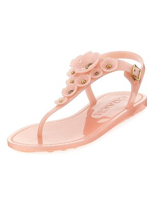 COACH Tea Rose Jelly Flat Sandals