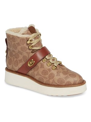 COACH urban hiker genuine shearling lined bootie