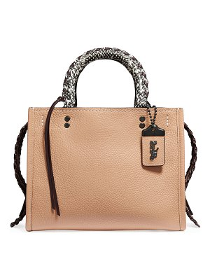 COACH Whipstitch Exotic Rogue Satchel Bag