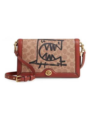 COACH x guang yu riley rexy signature coated canvas crossbody bag