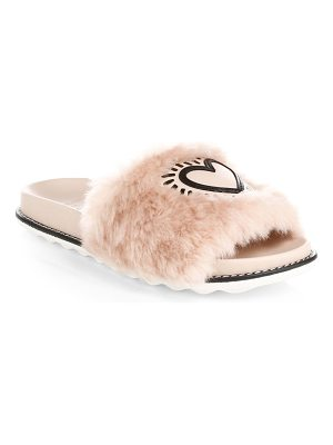 COACH x keith haring fur & leather slides